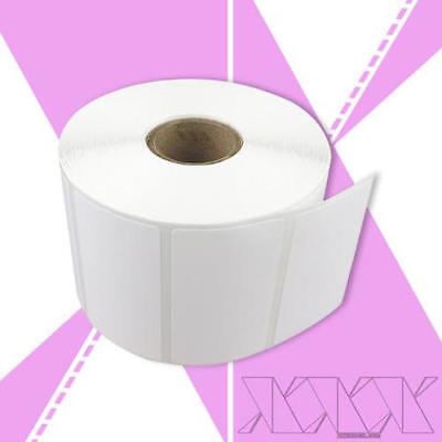 10 Rolls 2.25x1.25 Direct Thermal Labels Zebra Compatible Perforated 1000rl