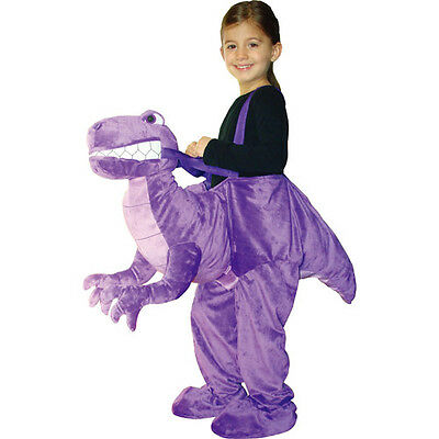 VERY LAST ONE! Plush DINOSAUR BOY/GIRL Costume Ride-On PURPLE CHILD'S M (8-10)