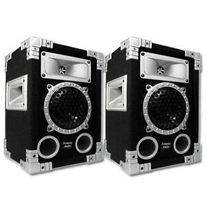 Acoustic Audio GX-350 PA Karaoke DJ Speakers 1000 Watts 2 Way Pair New