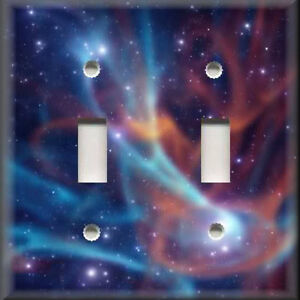 Light switch plate cover outer space colorful swirling for Outer space home decor