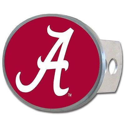 Alabama Crimson Tide Trailer Hitch Receiver Cover Metal Oval Class II & III