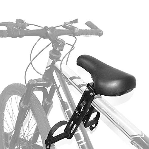Kids Bike Seat Light Weight Foldable Front Mounted Bicycle Without Armrests