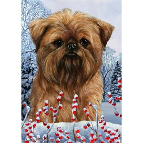 Winter Garden Flag - Brussels Griffon 151281