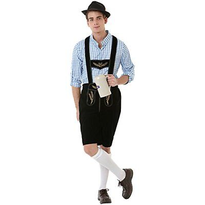 Boisterous Bavarian Men's Halloween Costume German Oktoberfest Beer Lederhosen](Beer Costumes For Men)