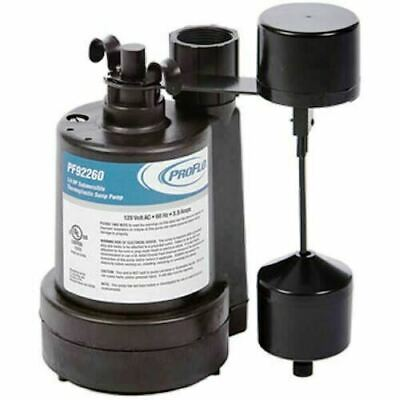 Proflo 92260 14 Hp Thermoplastic Automatic Sump Pump With Vertical Float Switch