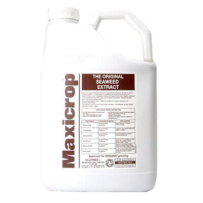 10L MAXICROP ORIGINAL SEAWEED EXTRACT FERTILISER GARDEN FEED GROWING FEED