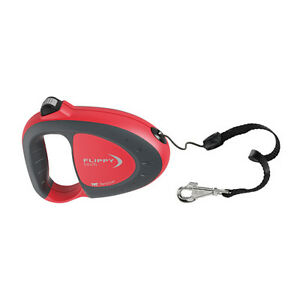 Ferplast Flippy Tech Cord Retractable Extendable Dog Lead Red Black Grey 3m 5m