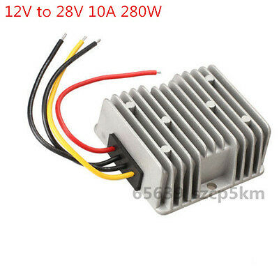 New Voltage Booster Power Dc Converter Step Up Regulator 12v To 28v 10a 280w