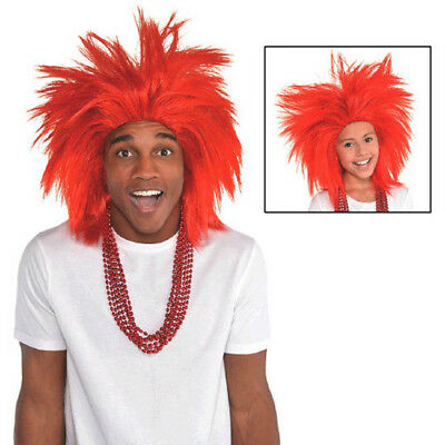RED CRAZY WIG for ADULTS or KIDS ~ Birthday Halloween Party Supplies Costume](Crazy Costumes For Halloween)