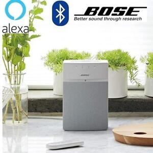 NEW BOSE SOUNDTOUCH 10 SPEAKER 731396-1200 232204852 WIRELESS WORKS WITH ALEXA IN WHITE