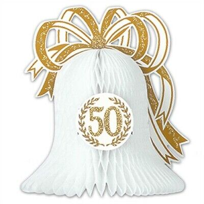 50th Anniversary Tissue Bell Centerpiece Anniversary Party Supplies Decoration