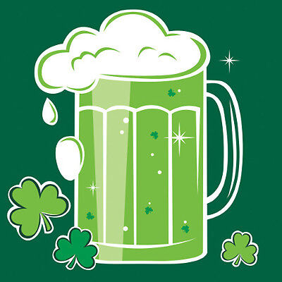 ST PATRICK'S DAY Beers and Cheers SMALL NAPKINS (18) ~ Birthday Party Supplies