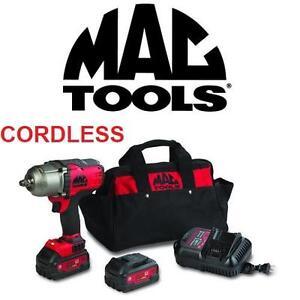 "NEW 5PC MAC IMPACT WRENCH KIT 20V - 132593355 - 20V - 1/2"" DRIVE COMPACT IMPACT WRENCH KIT POWER TOOLS CORDLESS TOOLS..."