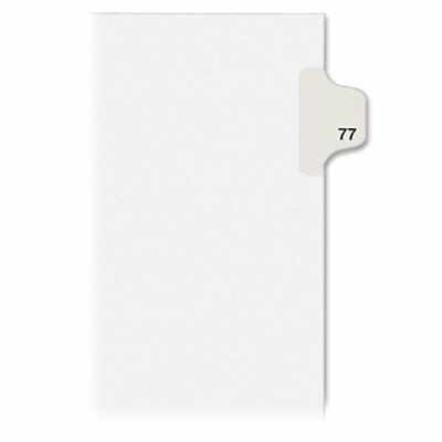 Avery Style Individually Numbered Tab - Printed77 - 25 Tab[s]/set - (ave01077)