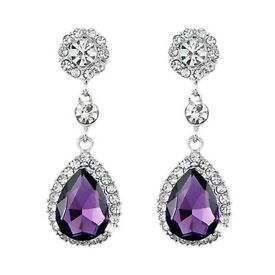 Deluxe Waterdrop Crystal Rhinestone Dangle Earrings