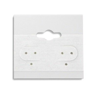 2000 White Hanging Earring Display Cards 2h X 2w With Lip