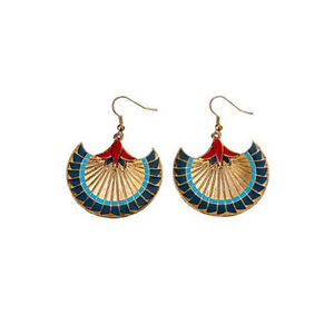 ANCIENT-EGYPTIAN-PAPYRUS-EARRINGS-EGYPT-JEWELRY-SET-OF-2-GORGEOUS