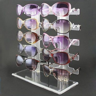 10 Pairs Sunglasses Rack Sunglasses Holder Glasses Display Eyeglasses Show Stand