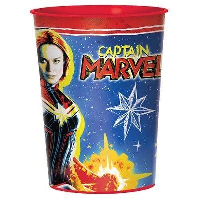 CAPTAIN MARVEL REUSABLE KEEPSAKE CUPS (2) ~ Birthday Party Supplies Plastic](Plastic Reusable Cups)