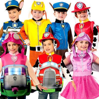Paw Patrol Boys Girls Fancy Dress Dog Cartoon Todder Kids Childrens Costumes New