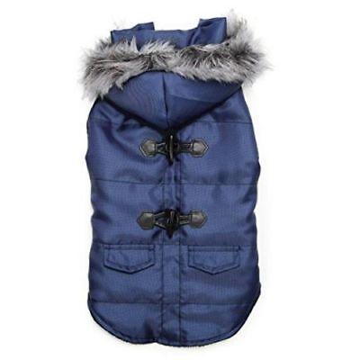 Zack & Zoey Elements Toggle Dog Coat/Jacket With Removable Hood Blue (Dog Toggle)