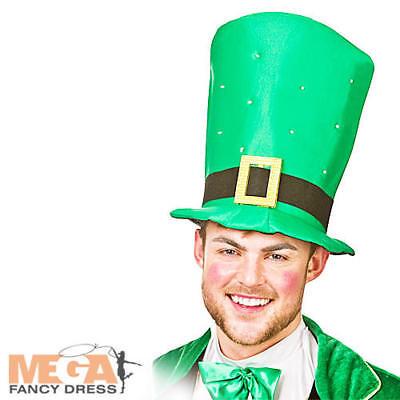 een Top Hat Adults Fancy Dress Irish Leprechaun Costume Acc (Green Giant Kostüm)