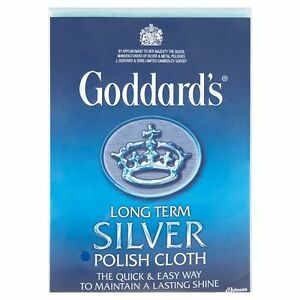 Goddards Silver Jewellery Polish Polishing Cleaning Clean Cloth Large 12
