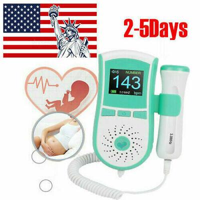 Mini Lcd Prenatal Fetal Doppler Heart Beat Monitor Pregnancy 3mhz Probe Fetus