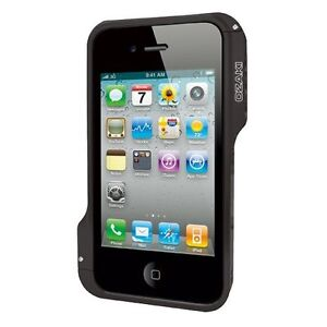 Ozaki-IC867BK-O-photo-Bumper-Negro-marco-aluminio-para-iPod-iPhone-4-4S-Nuevo