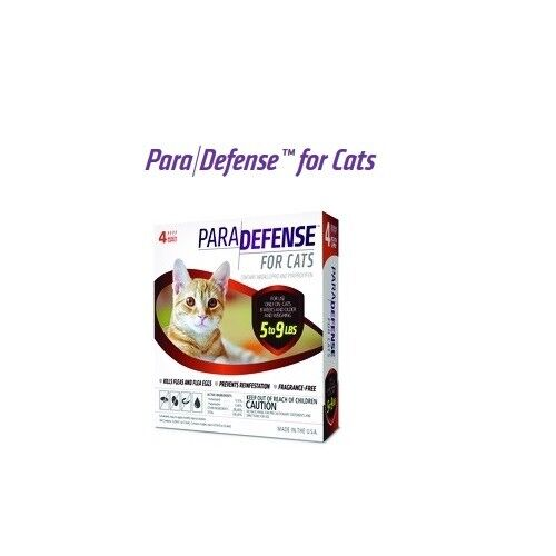 ParaDefense for Cats 5-9 lbs Flea Protection 4 Month Supply