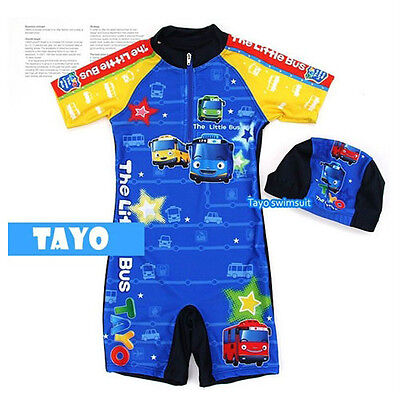 Tayo all in one swim suit / Tayo swimsuit / Tayo swim wear for 5~6 years