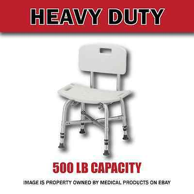 Extra Deviating Heavy Duty Bariatric Bath Bench Shower Tub Chair Seat with Back