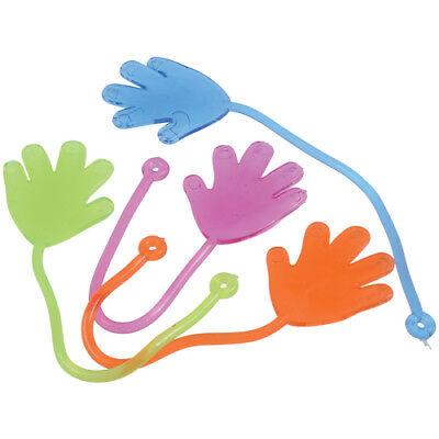 Sticky Toys (12 Sticky Stretchy Hands Kid Toy Birthday Party Goody Bag Favor Carnival)