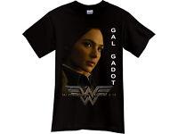 WONDER WOMAN GAL GADOT T-Shirt Movie Black TShirt Tee