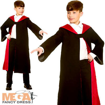 Wizard Robe Kids Fancy Dress Halloween Witch Book Day Boys Girls Childs Costume