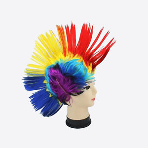 Multi Colour Punk/Mohican Rocker Wigs for Party Dress