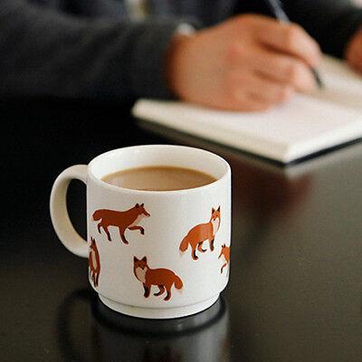 So Cute Winter Fox Mug Ceramic Cup 320ml Coffee Tea Drink