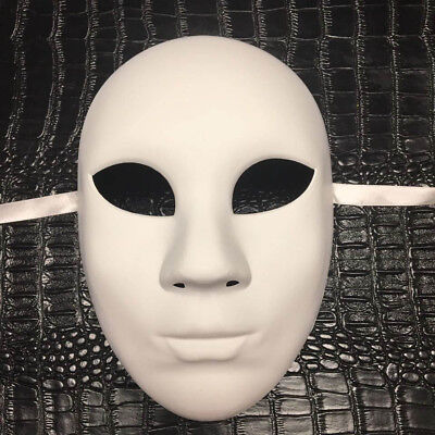 All White Mask (All White Women DIY Masquerade Mask Costume Prom Party Blank)