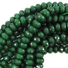 Rondelle Jade Faceted Loose Stone Beads