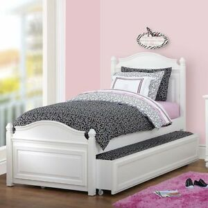 White Twin Trundle Bed