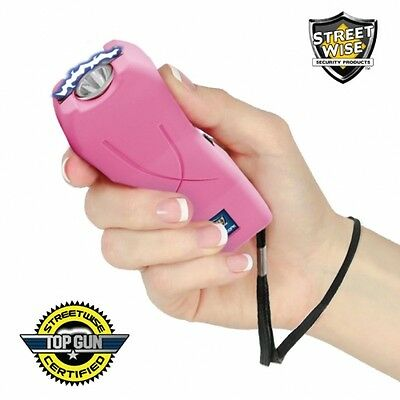 StreetWise Lady Life Guard 6,500,000* Stun Gun With Holster LED Light Pink New