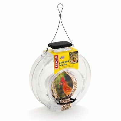 Clear Plastic Canteen-Style Bird Feeder with Two Perches, 5lb Seed Capacity