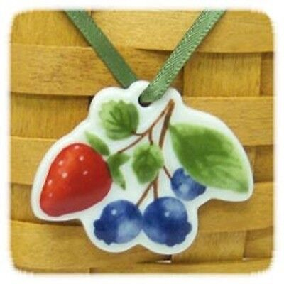 Longaberger Berry Fruit Medley Basket Tie On New In Box Genuine Pottery