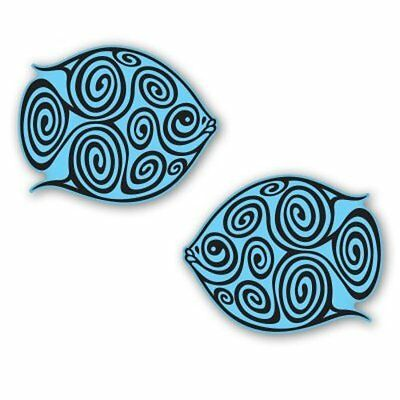 Tribal Fish Set of 2 Tattoo Tribal Design Car Vinyl Sticker - SELECT SIZE - Tattoos Of Fish