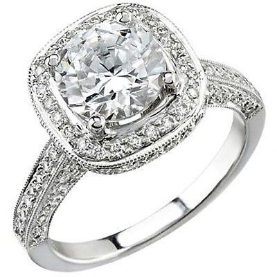 3.89 Ct.Round Brilliant Cut Diamond Engagement Ring GIA