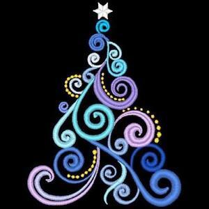 Free Machine Embroidery Christmas Tree Design