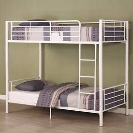 ❤CONVERTIBLE BUNK BED❤ BRAND NEW 3FT SINGLE METAL BUNK BED❤SAME DAY QUICK DELIVERY❤RANGE OF MATTRESS