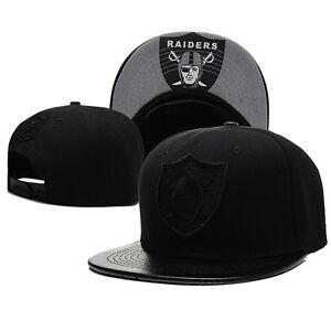 Unisex Black Cool Raiders Adjustable Snapback Hip Hop Hat Baseball Bboy Cap Xmas