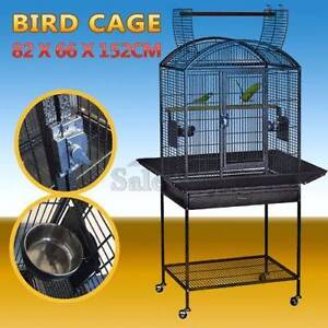 Large Black Arched Roof Pet Bird Parrot Aviary Canary Cage Castor Thomastown Whittlesea Area Preview
