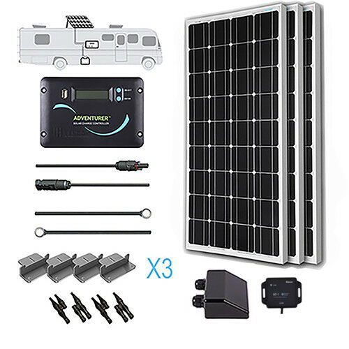 Renogy 300 Watt 12 Volt Monocrystalline Solar RV Kit with Bluetooth